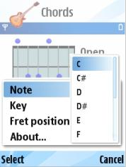 Symbian Chords v1.1 freeware