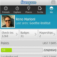 Foursquare for Symbian