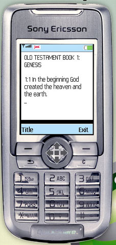 Book of Genesis on your phone - 1st Book of the Old Testament, for Symbian and J2ME devices