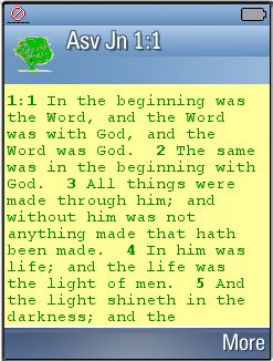 Symbian ASV Bible - American Standard Version for Symbian UIQ v3.0 Devices freeware