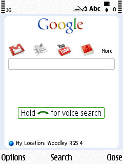 Symbian Google Voice Search freeware