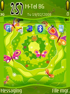 Symbian Green Summer theme freeware