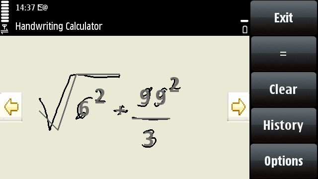 Handwriting calculator