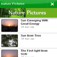 Symbian Nature Pictures freeware