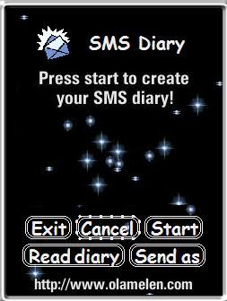 SMS Diary 1.0 for S60 2nd edition